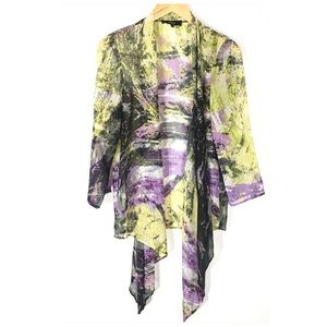 Status by Chenault Polyester Sheer Cardigan Cover
